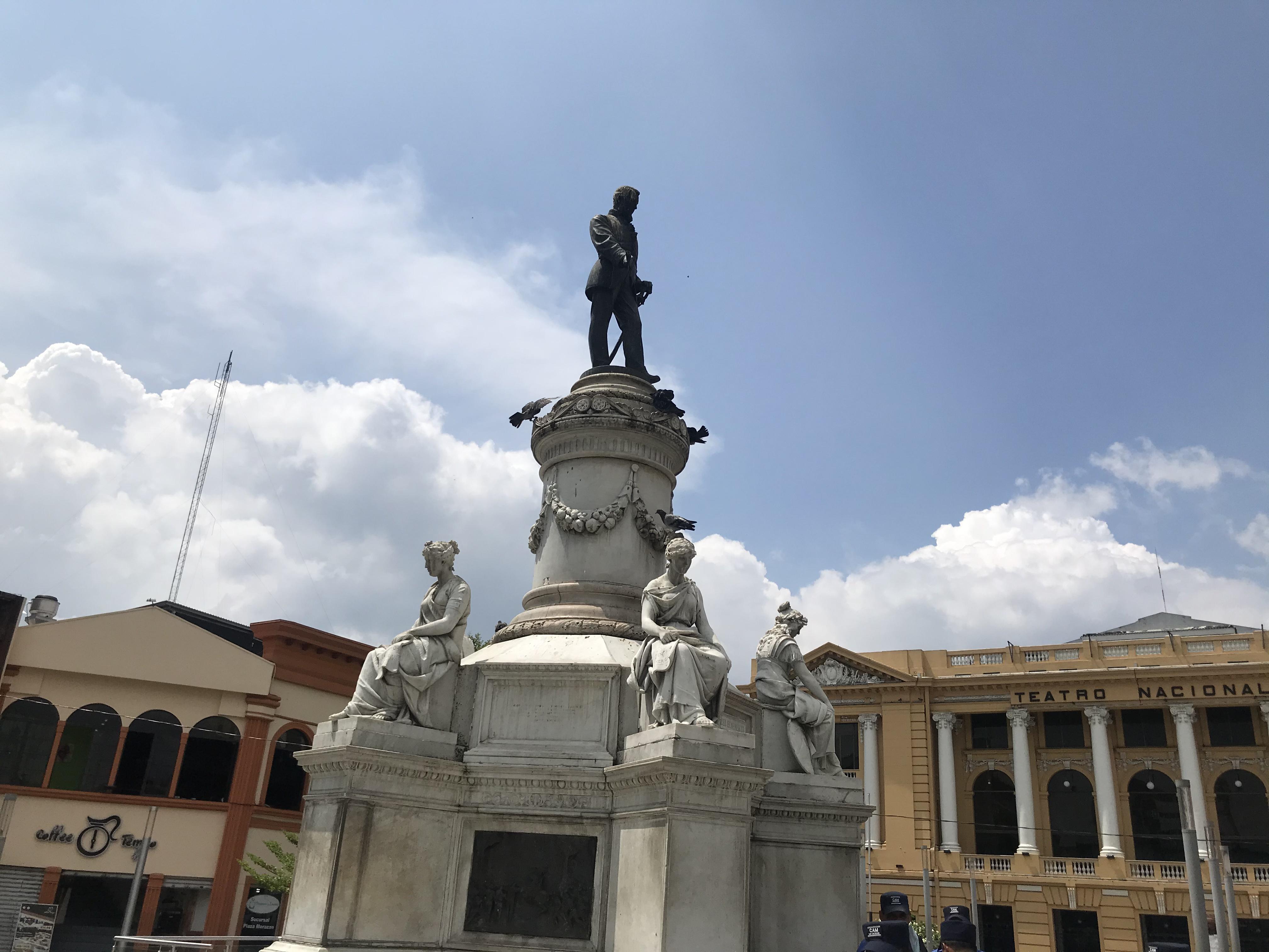 La plaza Morazán, un tributo al caudillo que luchó por la integración centroamericana