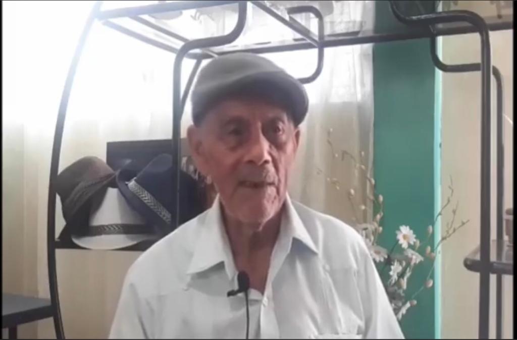 """Salvador Angulo: """"Para mí es un sueño llegar a los 100 años y se lo agradezco a Dios"""""""