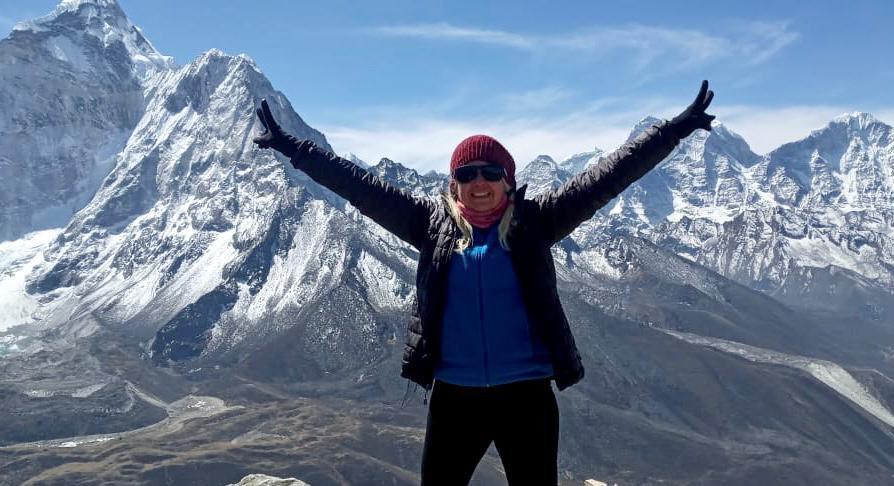 Alfa Karina Arrué, primera salvadoreña que busca conquistar el monte Everest